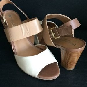 Naturalized heeled sandals